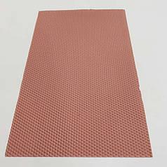 Цветная вощина для изготовления свечей, лист 41х26 см, пастельный розовый