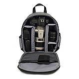 Andoer рюкзак для фотографа водонепроницаемый рюкзак для фото камеры 340*280*125 мм Синий, фото 2