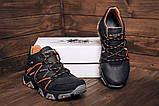 Чоловічі чорні зимові шкіряні черевики, фото 4