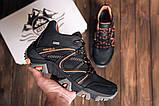 Чоловічі чорні зимові шкіряні черевики, фото 2