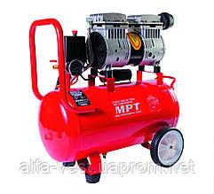 Компресор PROFI OIL FREE 24 л, 800 Вт, 1450 об/хв, 7 атм, мідна обмотка, безшумний MPT MAC80243S