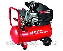 Компрессор PROFI 24 л, 1500 Вт/2 л.с., 2850 об/мин, 100 л/мин, 8 атм, 2 выхода, медная обмотка MPT MAC20243