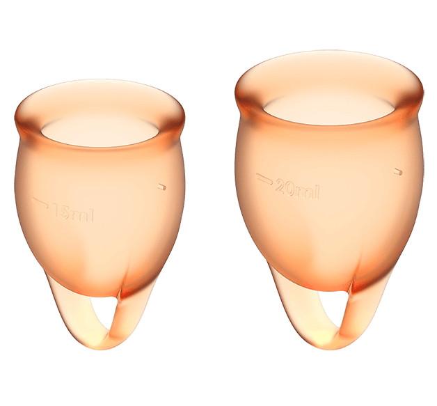 Набор менструальных чаш Satisfyer Feel Confident Orange