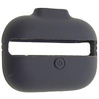 Чехол силиконовый Aare с ремешками для наушников AirPods Pro Угольно-cерый 00007697, КОД: 1536402