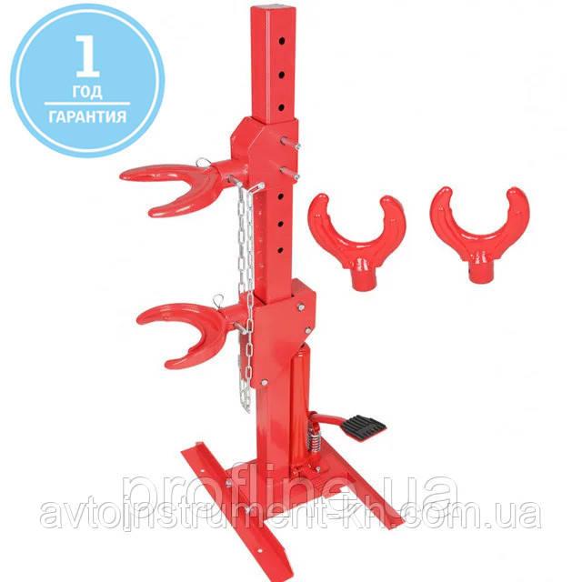 Съемник пружин гидравлический вертикальный с насадками Profline 97145ES