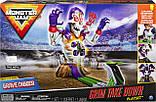 Трек Монстр Джем с машинкой, звуковые эффекты Monster Jam Grim Takedown, Spin Master, фото 3