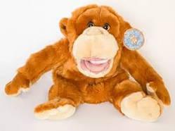 Мягка игрушка на руку Орангутан (музыкальная)