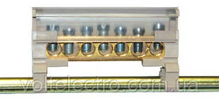 Однополюсный клеммный блок  (6.5 x 9 mm / 80A)