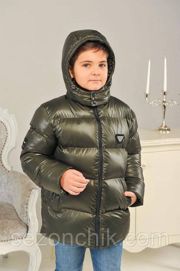 Детские зимние куртки для мальчиков модные размеры 134-158
