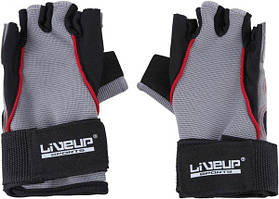 Перчатки LiveUp Training Gloves Black-Grey-Red (LS3071-LXL)