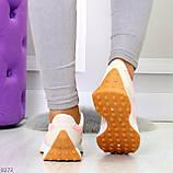 Розовые серые текстильные женские замшевые кроссовки с рефлективными вставками 40-25см, фото 7