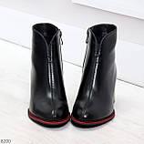 Элегантные повседневные черные женские ботинки ботильоны на флисе, фото 3