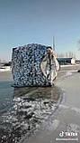 "Палатка зимняя  ""КУБ"" Буран для рыбалки утепленная OXFORD 3000 3-х слойная 200х200х205 см, фото 3"