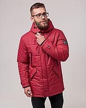 Мужская куртка пуховик Б-6 красный зима 2021