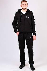 Спортивный костюм на флисе мужской черный AAA 010