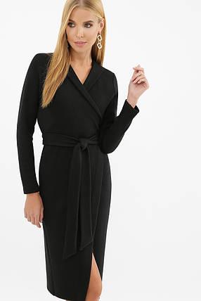 Стильне тепле чорне плаття з ангори, розмір S, M, L, XL, фото 2
