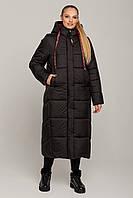 Зимний пуховик женское пальто стеганое черное тинсулейт цвет черный размер 44-54