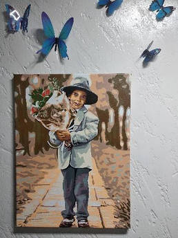 Готова картина Babylon Молодий джентльмен 30х40см VK195 покрита глянцевим лаком