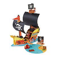 Ігровий набір Janod Корабель піратів 3D (J08579)