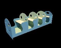 Ігровий елемент Гусеничка для дитячого майданчика у дворі, дитячому садку або дачній ділянці 272х75х80 см