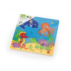 Дерев'яна рамка-вкладиш Viga Toys Морські мешканці (59564)