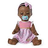 Luvabella Интерактивная реалистичная кукла Лувабелла темнокожая 6044113 Doll Dark Brown Hair, фото 4