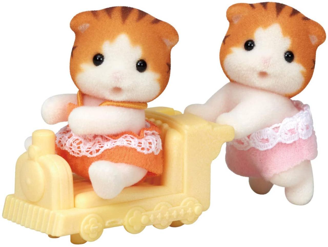 Sylvanian Families Calico Critters малыши двойняшки котики 1795 Maple Cat Twins