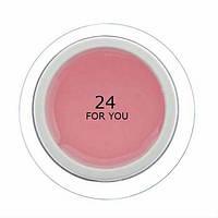 Гель для наращивания ногтей FOR YOU №24  Розовый Теплый, 50 мл