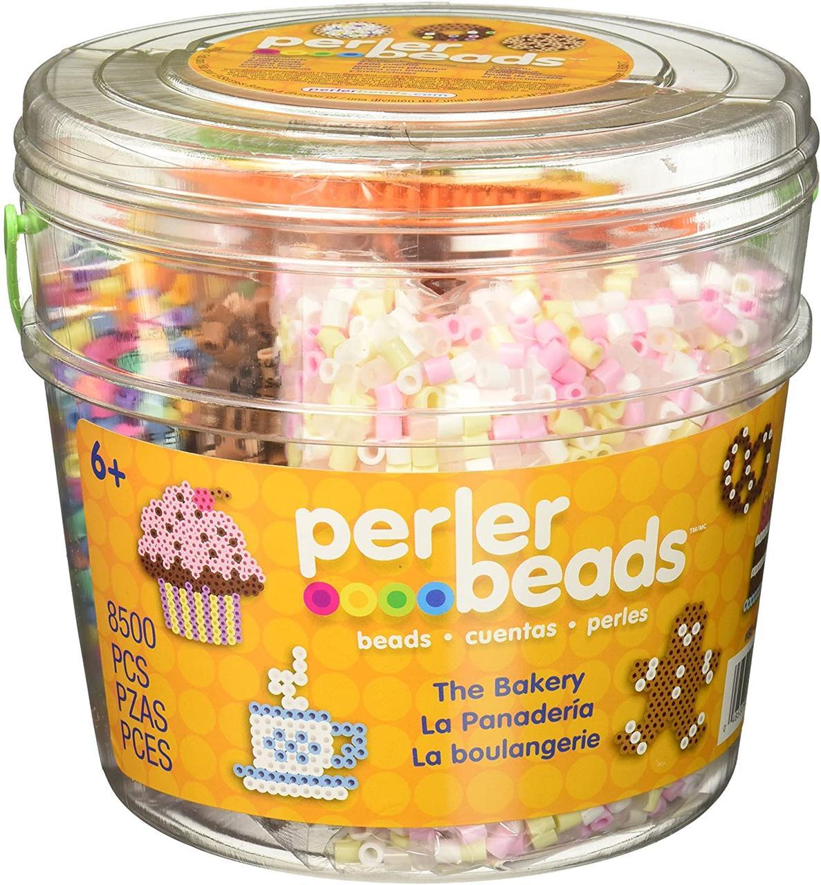 Perler Термомозаика пекарня 8500 бусинок, основы, бумага 80-42846 Bakery Fuse Bead Bucket Craft Activity Kit