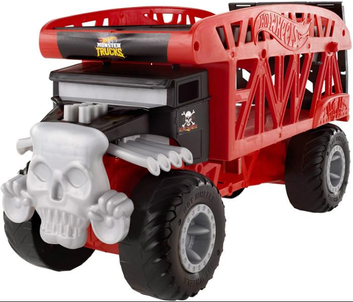 Hot Wheels Monster Truck Монстро-транспортер на 12 машинок автовоз перевозчик FYK13 Transporter with Space for