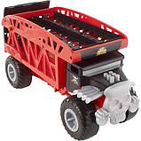 Hot Wheels Monster Truck Монстро-транспортер на 12 машинок автовоз перевозчик FYK13 Transporter with Space for, фото 2