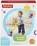 Fisher-Price Іграшка-каталка Слоник F8651 Pop n Push Elephant, фото 3
