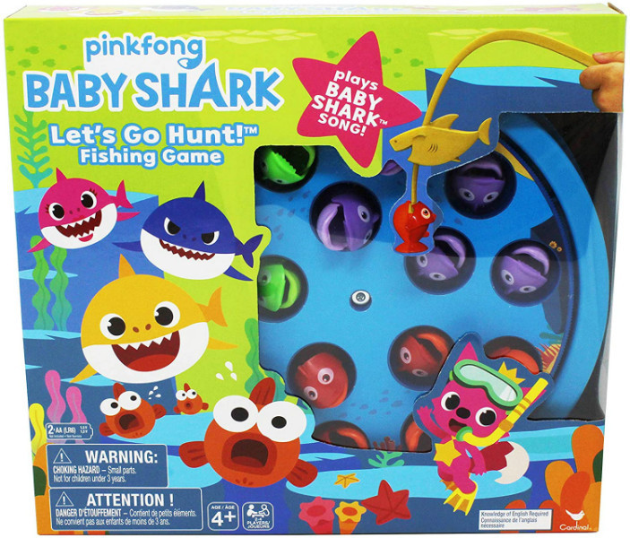 Cardinal Настольная игра занимательная рыбалка 6053381 Pinkfong Let's Go Hunt Fishing The Baby Shark