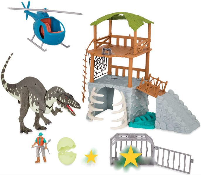 Terra Электронный набор Экспедиция в Джунгли 4057 Acrocanthosaurus Jungle Expedition Dinosaur Helicopter