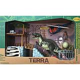 Terra Электронный набор Экспедиция в Джунгли 4057 Acrocanthosaurus Jungle Expedition Dinosaur Helicopter, фото 6