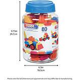 Battat Конструктор бристл 80 деталей в банке 3102Z Bristle Blocks big value case, фото 6