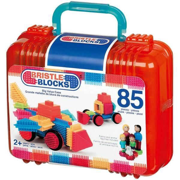 Battat Конструктор бристл 85 деталей в кейсе 3071Z Bristle Blocks adventure Carry Case