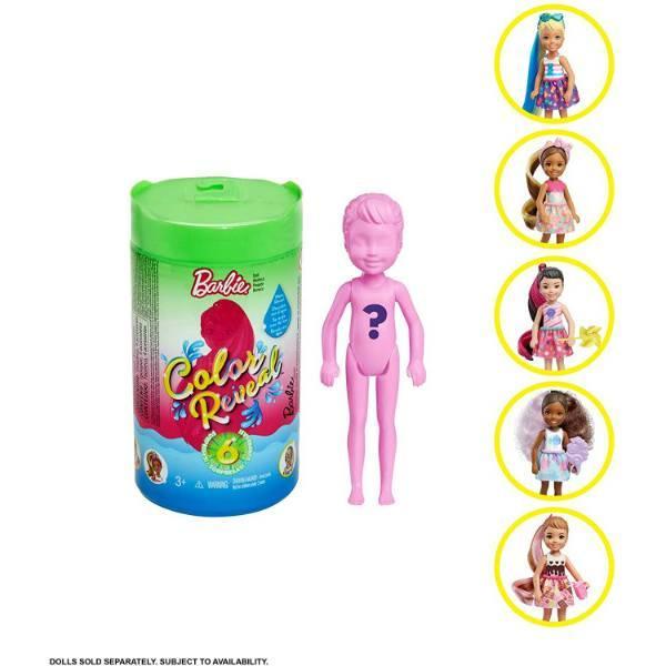 Barbie S1 W2 Барби Челси сюрприз GPD41 Chelsea Color Reveal Foodie Series Doll