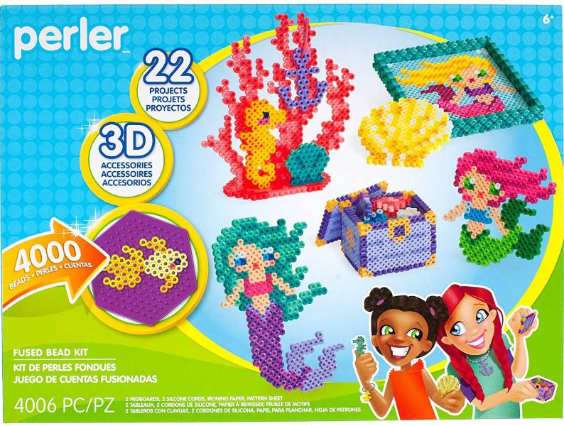Perler Термомозаика Океан и Русалка 4000 бусинок 80-54311 Beads 3D Ocean and Mermaid Fuse Bead Kit