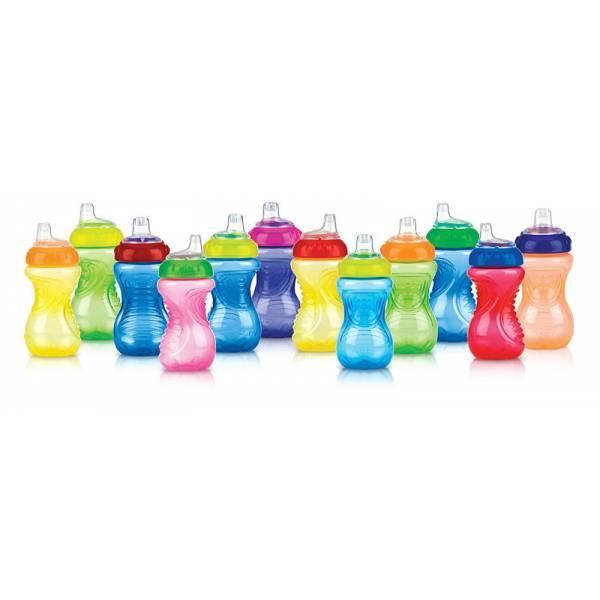 Nuby Бутылочка поильник цвета в ассортименте 890 No-Spill Easy Grip Cup