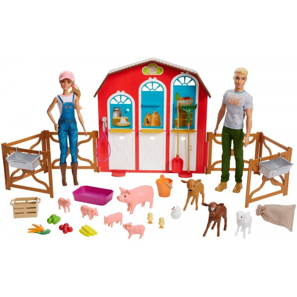 """Barbie Барбі і Кен набір """" ферма Солодкий сад Sweet Orchard Barn Farm Playset"""