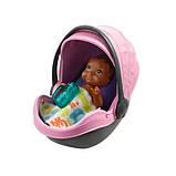 Barbie барби Коляска-переноска с малышом розовая FXG95 Skipper Babysitters Stroller, фото 2
