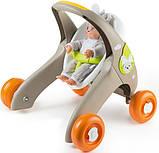 Smoby Ходунки коляска для куклы пупса 3 в 1 Миникисс Веселые животные 210206 baby walker Mini Kiss, фото 4