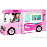 Barbie Барби кемпер трейлер дом мечты 3 в 1 2020 GHL93 Estate 3-In-1 Dreamcamper Vehicle With Pool Truck Boat, фото 2