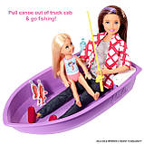 Barbie Барби кемпер трейлер дом мечты 3 в 1 2020 GHL93 Estate 3-In-1 Dreamcamper Vehicle With Pool Truck Boat, фото 5