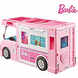 Barbie Барби кемпер трейлер дом мечты 3 в 1 2020 GHL93 Estate 3-In-1 Dreamcamper Vehicle With Pool Truck Boat, фото 9