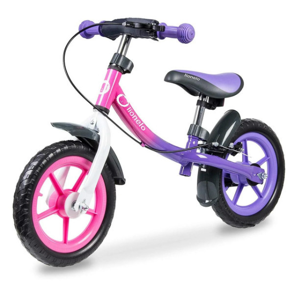 Lionelo Беговел велобег с ручным тормозом фиолетовый 51846 Dan Plus