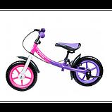 Lionelo Беговел велобег с ручным тормозом фиолетовый 51846 Dan Plus, фото 2
