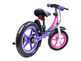Lionelo Беговел велобег с ручным тормозом фиолетовый 51846 Dan Plus, фото 3
