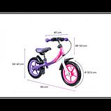 Lionelo Беговел велобег с ручным тормозом фиолетовый 51846 Dan Plus, фото 5